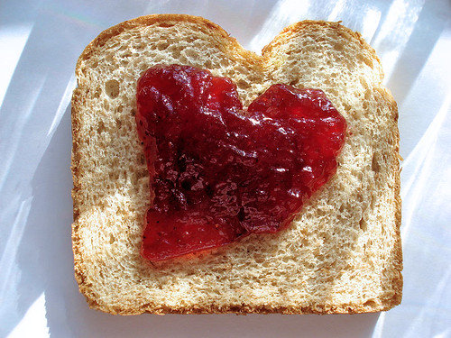 Jelly Sandwich Heart (Blood Sugar Low?) | Flickr - Photo Sharing!
