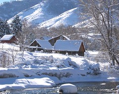 The Homestead (Sandra Leidholdt) Tags: schnee winter usa snow america us vinter log colorado unitedstates hiver nieve sneeuw american fourseasons neve invierno neige inverno sheds cabins amricain jeffersoncounty sandraleidholdt leidholdt sandyleidholdt