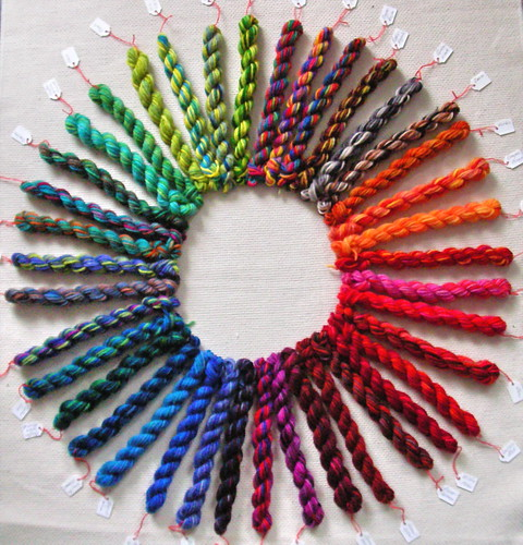 The Colour Wheel according to Wollmeise
