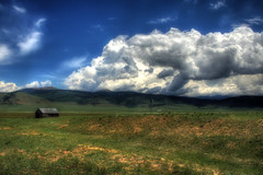Colorado Farm OE (Scott Ingram Photography) Tags: blue wallpaper sky nature clouds colorado farm background 300 hdr 1000 orton bestofthebest lifehacker photomatix tonemapped specland hdrmeetsorton sipbotbfs slickrframe