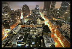 Bird's view of Downtown (Arnold Pouteau's) Tags: nyc newyorkcity longexposure night downtown manhattan tribeca 50ms