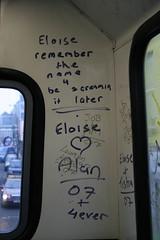 Dublin Bus Scrawl (leapleg) Tags: ireland dublin bus love graffiti raw scrawl rough screaming backseat coolock