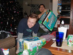 Tim got the toilet paper. I got the paper towels. (12/24/06)
