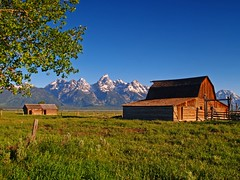 Morning View (Matt Champlin) Tags: old morning light summer mountains history barn rockies ancient soft grand wyoming grandtetons majesty grandtetonsnationalpark abigfave colorphotoaward bestnaturetnc07