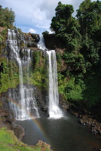 Waterfall with rainbow
