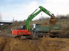 excavator action (giedje2200loc) Tags: truck excavator dumper graafmachine graafmachines