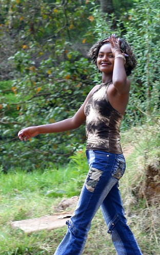 Ethiopian girl in jeans