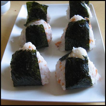 6 onigiris fait maison
