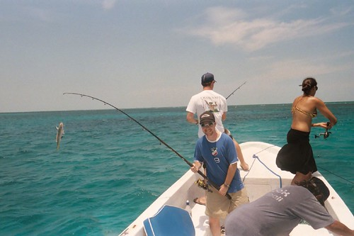 Catching a Yellow Snapper - Caye Caulker