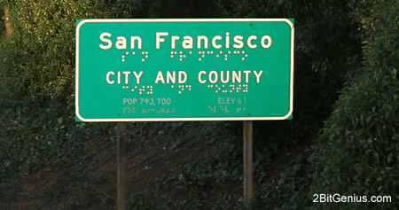 San Francisco road sign, accessible to all...