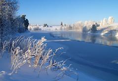 Andelva #1 (Krogen) Tags: norway norge romerike krogen akershus eidsvoll andelva natur nature norwegen noruega noorwegen skandinavia scandinavia olympus e400 landskap landscape elv river vinter winter noreg
