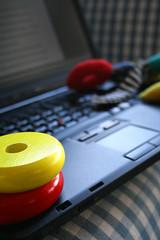 toys on laptop