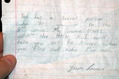 Secret Admirer (Editor B) Tags: school louisiana secret neworleans flirting letter secretadmirer grammar admirer