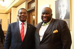Sen. Jeff Hayden with the Speaker of the National Assembly of Kenya