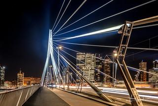 Glowing Erasmus Bridge II