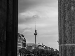 Berlin, Germany (Márton Botond) Tags: berlin germany blackwhite fernsehturm tvtower alexturm brandenburgertor city cityscape travel europa deutschland panasoniclumixdmclz20