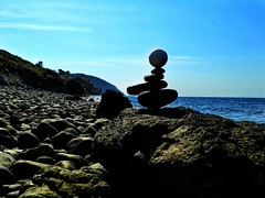 jenga (panoskaralis) Tags: jenga zen stone beach stractures rocky rockybeach outdoor macro sunlight lesvos lesvosisland mytilene greece greek hellas hellenic nature