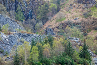 View of the waterfall in the quarry