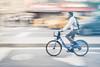 Evening commuter (SteveMcD) Tags: commuting man bicycle bikecommuter gx8 newyork nyc citibike street streetphotography bikelane lumixgx8 blur cycling commute unitedstates us
