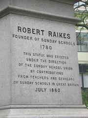 Robert Raikes (Founder of Sunday Schools), Thomas Brock (Sculptor), Victoria Embankment Gardens, City of Westminster, London (2) (f1jherbert) Tags: canonpowershotsx620hs canonpowershotsx620 canonpowershot sx620hs canonsx620 powershotsx620hs canon powershot sx620 hs powershotsx620 powershoths londonengland londongreatbritian londonunitedkingdom greatbritain unitedkingdom london england uk gb great britain united kingdom sculptures art sculptors