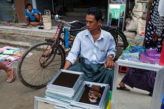 Mirror Seller - Yangon, Myanmar