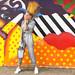 ELENA hair raising polka dot mural 94110