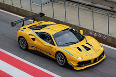 the 488 Challenge prototype exiting onto the track (Dag Kirin) Tags: 488 challenge prototype exiting onto track ferrari gt days red bull ring austria 2018 yellow