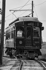 Mt. Pleasant, Iowa 9/2/2017 (Doug Lambert) Tags: chicagoauroraelgin trolley interurban preservation midwestelectric oldthreashers mountpleasant iowa midwest blackandwhite