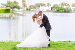Kiss in front of the lake - Kingston Plantation (Ryan Smith Photography) Tags: wedding weddingphotography myrtlebeach httpswwwryansmithphotographycom