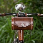It's #BiketoWork Day. Carry along your essentials in style with our Bicycle Barrel Bag For Handlebars, handmade in Oregon. thumbnail