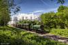 Great Western, dappled sunshine (Nimbus20) Tags: bluebellrailway sussex sunshine steam train engines railway preservation bluesky