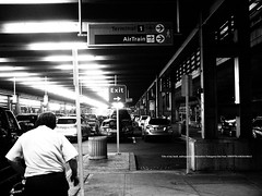 EXIT.   (The exit is towards the dark side.) (mitsushiro-nakagawa) Tags: newyorkcity manahattan usa bw