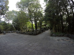 Nino south _orig_LG (Hazbones) Tags: iwakuni yamaguchi yokoyama castle kikkawa suo chugoku mori honmaru ninomaru demaru wall armor samurai spear teppo gun matchlock map ropeway
