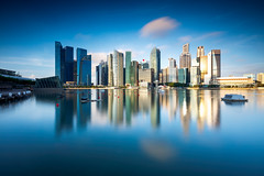 Building with reflection, Marina bay, Singapore (Patrick Foto ;)) Tags: architecture asia asian bay beautiful blue building buildings business center city cityscape commercial copyspace corporate day district downtown evening famous finance harbor hotel landmark landscape marina metropolis modern night office port reflection scene sea singapore sky skyline skyscraper structure tower town travel urban view water sg