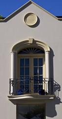 Balcony (Padmacara) Tags: australia fremantle architecture g11 shadowlight balcony pots window door sky wroughtiron