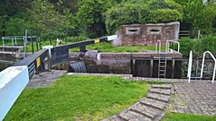 Garston Lock no. 102 and pillbox on the Kennet & Avon Canal near Reading in Berkshire (baldychops) Tags: garstonlock garston travel transport old historic history evening outdoor pillbox lock water berkshire reading kennetavoncanal kennetavon kennet canal