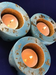 Aqua Gold Votive Trio (Alka_007) Tags: tealight votive gold aqua goldleaf goldleafdecoration explore oneofakind handmade aquagolden votivetrio votives tealights tealightsinhandmadevotiveswithgoldleafdecoration