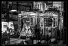 Limpiando los tranvias (Montse Estaca) Tags: portugal portogallo lisboa lisbon lisbona tranvias trams hombre uomo man trabajador worker furgoneta van vias escalera scala ladder bw bn bianco blanco black negro nero white graffiti fotografíaurbana paisajeurbano urbanlandscape urbanphotography fuji fujixt1