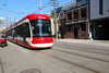 TTC 4464 Flexity Outlook LRV Going Westbound On King St W On Route 514 At Bathurst St + Motorcycle Driver Waiting For A Trcket For Disobeying No Through Traffic Sign At Portland St (drum118) Tags: ontariophoto torontophoto transitttc ttcflexityoutlooklrvfleet builtinthunderbay builtbybombardier ttc4464flexityoutlooklrv arrivedfebruary012018 enterservicefebruary242018 lrvgoingwestboundonkingstwonroute514 atbathurstst motorcycledriverwaitingforaticketfordisobeyingnothroughtrafficsignatportlandst streetcar tram trolleycar lrvlightrailvehicle