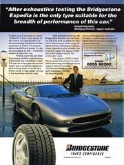 1994 Bridgestone Expedia Tyres Jaguar XJ 220 3.5 Litre V6 Aussie Original Magazine Advertisement (Darren Marlow) Tags: 1 2 4 9 19 94 1994 bridgestone b e epedia h high p performance tyre c car v vehicle tread t a automobile j jaguar jag 220 x xj 90s