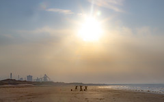 Fishermen Redcar Beach (simon.mccabe.5) Tags: simonmccabe sky sand 2018 may sunset busted funny beach gazette redcar dance