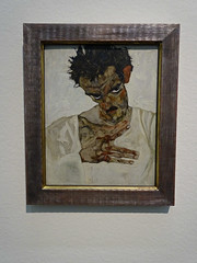 Vienna '18 (faun070) Tags: vienna leopoldmuseum painting modernart egonschiele selfportraitloweredheadschiele selbstbiltnismitgesenktemkopfschiele 1912
