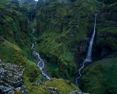 Hangandifoss (JaZ99wro) Tags: exif4film iceland waterfall f0349 velvia50 tetenal3bathkit islandia canyon pentax67ii opticfilm120 e6 analog film