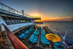 Carnival Sunrise (Brook-Ward) Tags: hdr brook ward carnival cruise cruising lines ship boat aft sunrise ocean sea caribbean travel holiday vacation