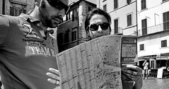Can't beat a proper map. (Baz 120) Tags: candid candidstreet candidportrait city candidface candidphotography contrast street streetphoto streetphotography streetcandid streetportrait sony a7 fullframe rome roma romepeople romestreets europe women monochrome mono monotone noiretblanc bw blackandwhite urban life primelens portrait people pentax20mm28 italy italia girl grittystreetphotography decisivemoment strangers faces