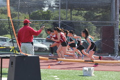 IMG_8422 (susanw210) Tags: track running trackandfield teamwork atheletes students highschool team jumping hurdles lowell cardinals highschoolsports
