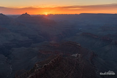 Here Comes the Sun (kevin-palmer) Tags: grandcanyon grandcanyonnationalpark nationalpark arizona april spring early morning sunrise nikond750 southrim shoshonipoint color colorful clouds dawn gold golden orange yellow sun hdr tamron2470mmf28 coloradoriver