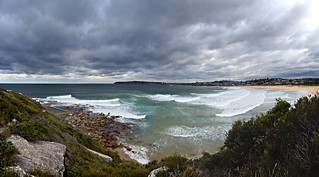 Windy day at North Curl Curl