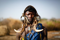 Mursi man (Lil [Kristen Elsby]) Tags: canon5dmarkii ethiopia mursi omovalley tribe mursitribe portrait editorial indigenous tribal topf25