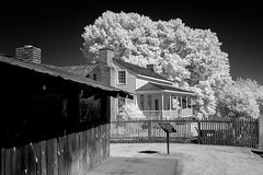 Heritage Park Plantantion House (Neal3K) Tags: henrycountyga georgia heritagepark mcdonoughga ir infraredcamera kolarivisionmodifiedcamera